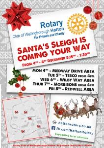 Santa Sleigh poster